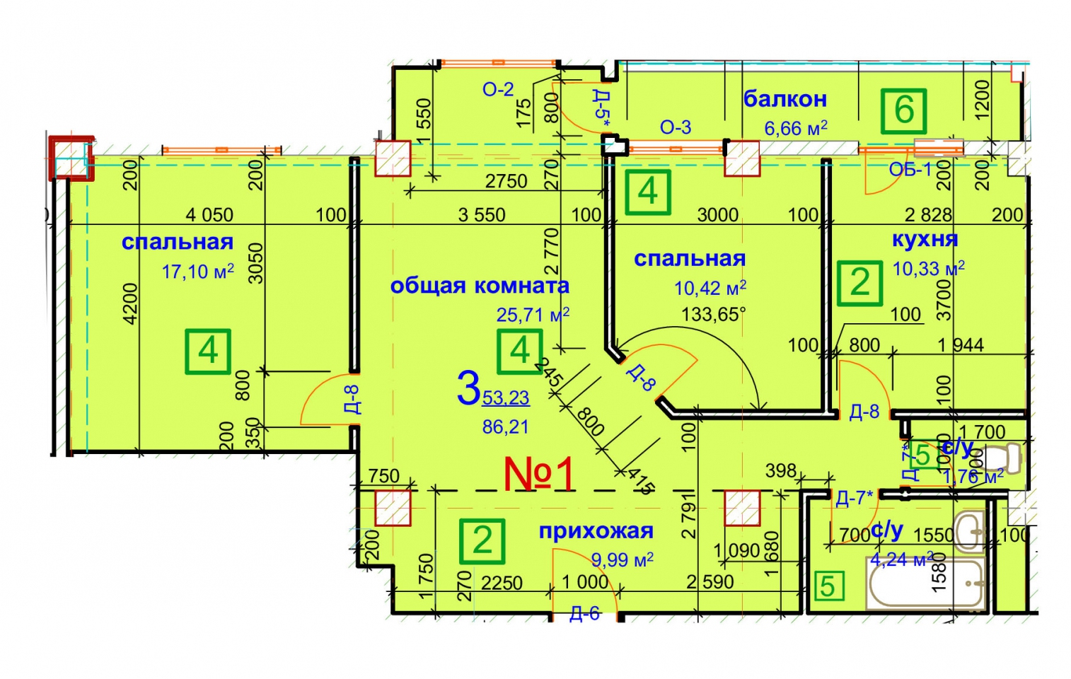 Планировка квартиры №22